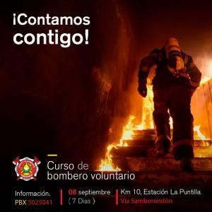 Aspirantes a Bomberos Voluntarios Sept. 2018 – Nueva Fecha